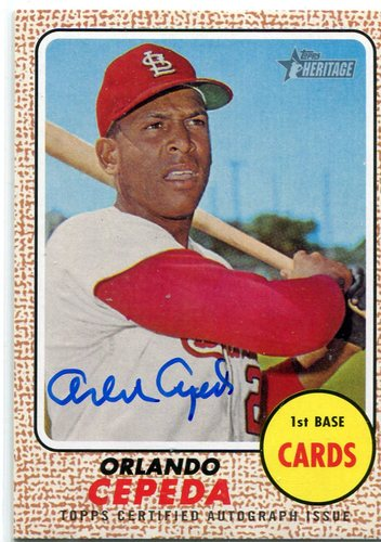 Photo of 2017 Topps Heritage Real One Autographs Orlando Cepeda -- Hall of Famer