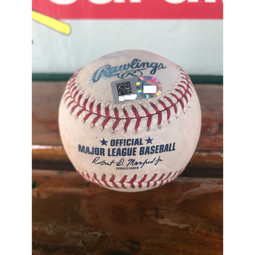 Cardinals Authentics: Game-Used Baseball Pitched By Brian Duensing to Luke Voit *Single*