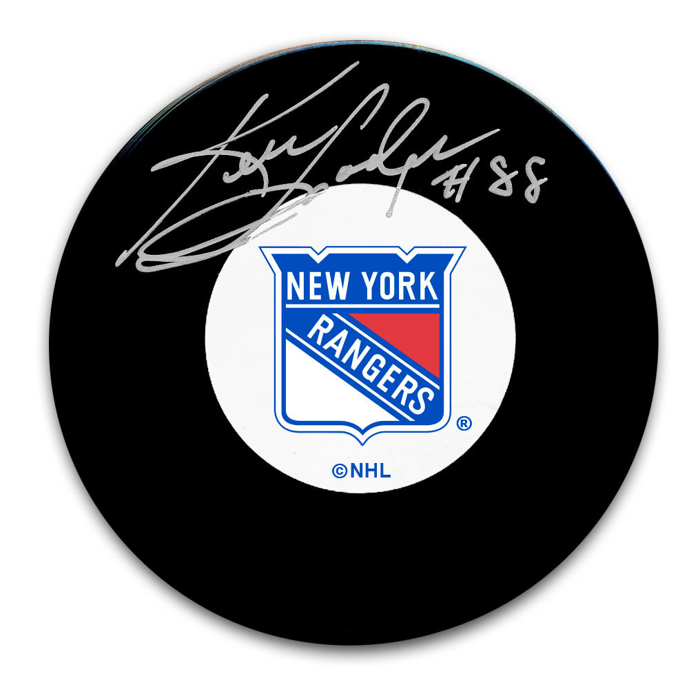 Ken Hodge New York Rangers Autographed Puck