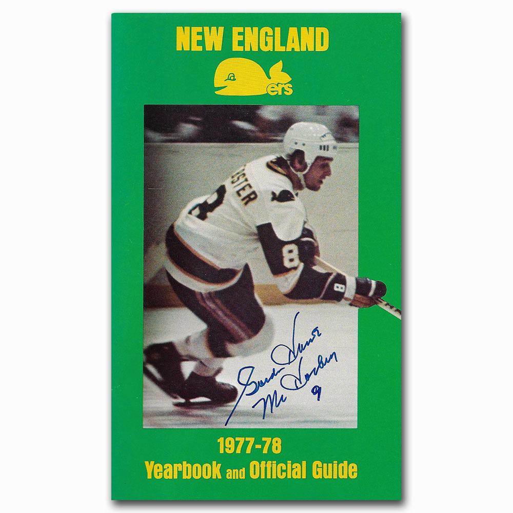 Gordie Howe Autographed New England Whalers 1977-78 Yearbook