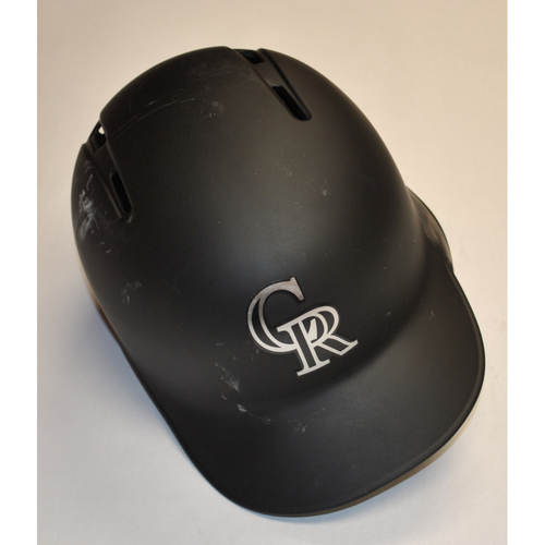 "Photo of Wes ""PARIS"" Parsons Colorado Rockies Team Issued 2019 Players' Weekend Helmet"