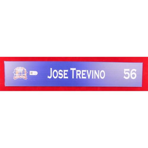 Photo of Final Season Game-Used Locker Tag - Jose Trevino - 9/13/19 vs OAK