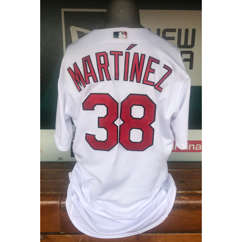 Photo of Cardinals Authentics: Jose Martinez Game Worn Home White Jersey