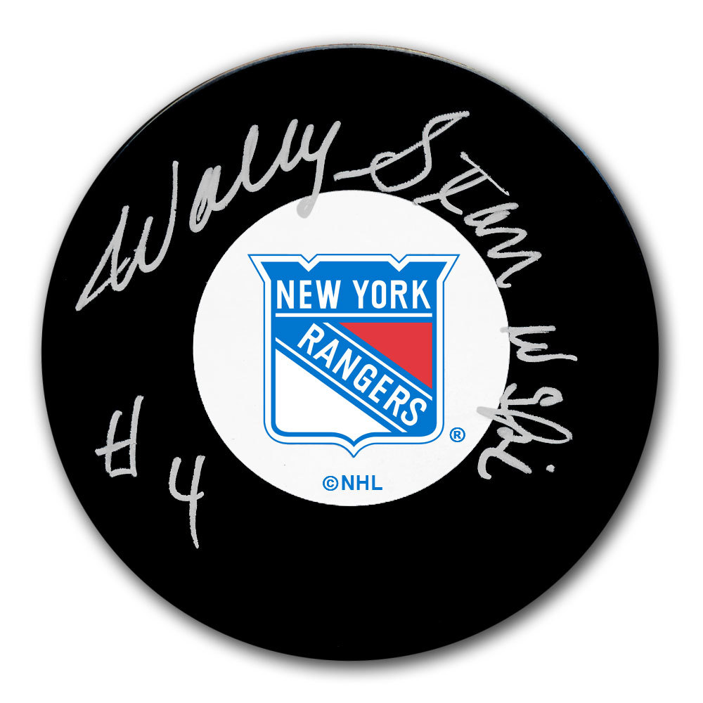 Wally Stanowski New York Rangers Autographed Puck