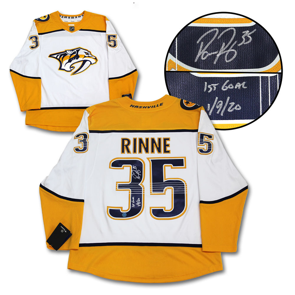 Pekka Rinne Nashville Predators Signed & Dated 1st Goal Fanatics Hockey Jersey