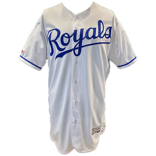 Photo of Kansas City Royals Team-Issued Majestic Jersey - White - Choose Your Size!