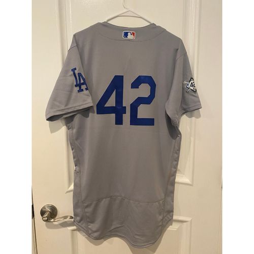 Photo of Mookie Betts Authentic Game-Used Jersey from 8/28/20 Game @ TEX - Size  42T