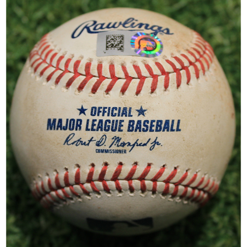 Photo of Game-Used Baseball: Ke'Bryan Hayes 11th Career Hit (PIT @ KC 9/12/20)