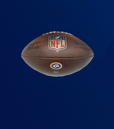 Photo of Playoff Edition: Rams Game Used Football - (1/09/21 VS. Seattle Seahawks)
