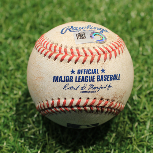 Photo of Game-Used Baseball: Miguel Cabrera 2,904th Career Hit & 1,746th Career RBI + Jonathan Schoop 166th Career Double (DET@KC 6/14/21)