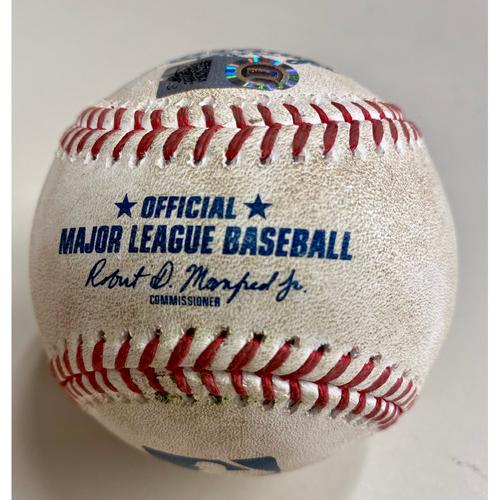 Photo of Game-Used Baseball: Brandon Marsh Los Angeles Angels RBI Triple (MLB AUTHENTICATED)