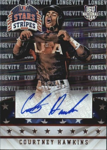Photo of 2015 USA Baseball Stars and Stripes Longevity Signatures #26 Courtney Hawkins/299