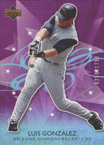 Photo of 2006 Upper Deck Future Stars Purple #4 Luis Gonzalez