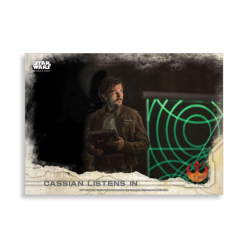 Cassian listens in 2016 Star Wars Rogue One Series One Base Poster - # to 99