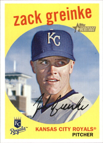 Photo of 2008 Topps Heritage #239 Zack Greinke -