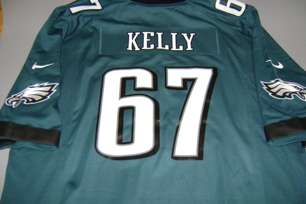 new style 4c013 a155c NFL Auction | EAGLES - DENNIS KELLY REPLICA EAGLES JERSEY ...