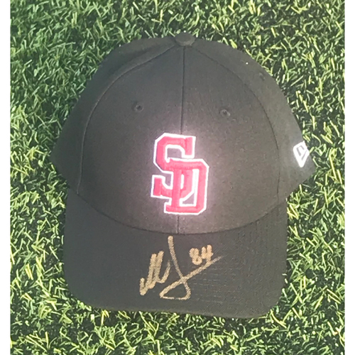 Photo of Michael Collins Autographed and Game-Used Stoneman Douglas Eagles Cap