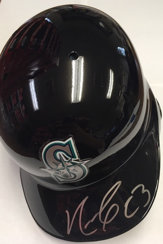 Photo of Nelson Cruz Autographed Mariners Batting Helmet