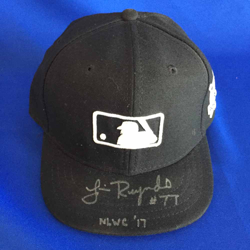 Photo of UMPS CARE AUCTION: Jim Reynolds Signed 2017 Postseason MLB Plate Cap - Game Worn, Size 7 1/8 - Not MLB Authenticated