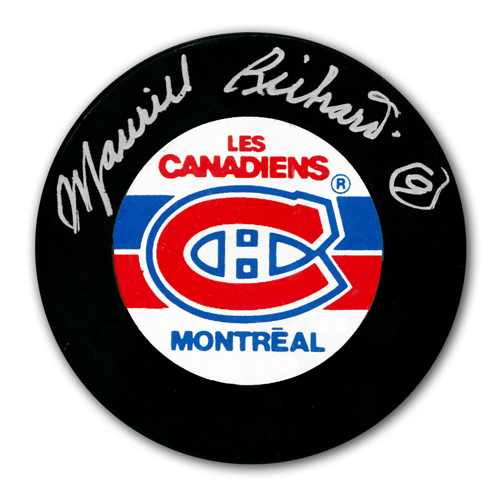 Maurice Richard Montreal Canadiens Autographed Puck