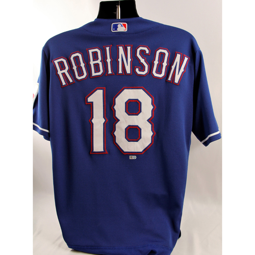 Photo of Game-Used Blue Jersey - Drew Robinson - 8/21/18
