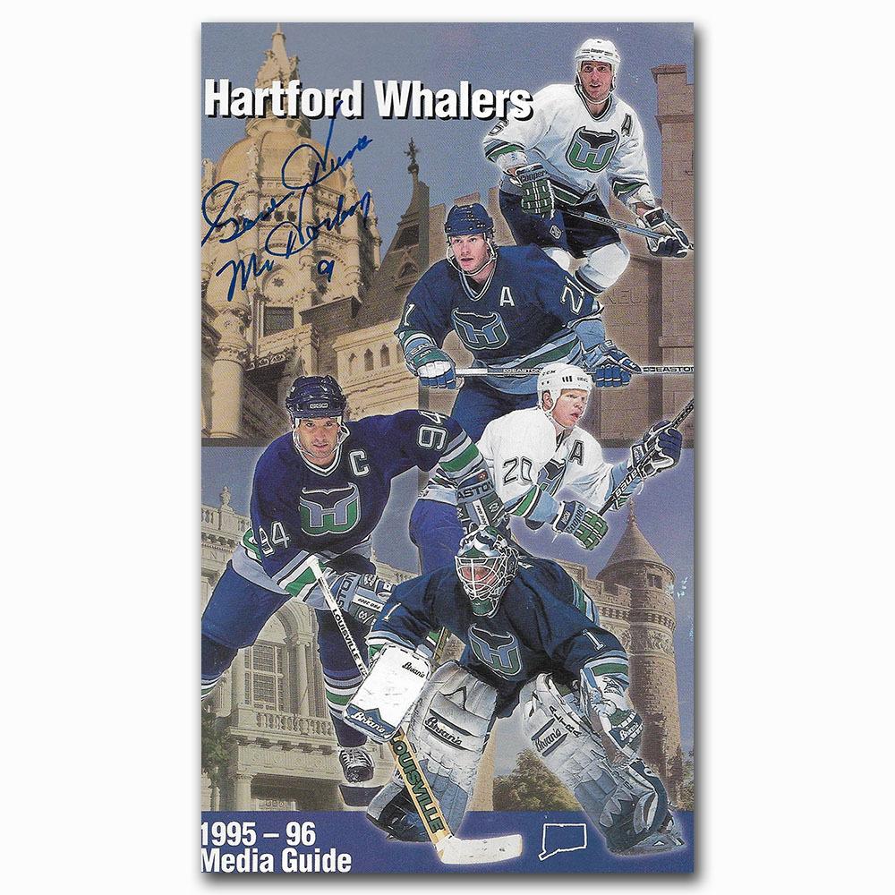 Gordie Howe Autographed Hartford Whalers 1995-96 Media Guide