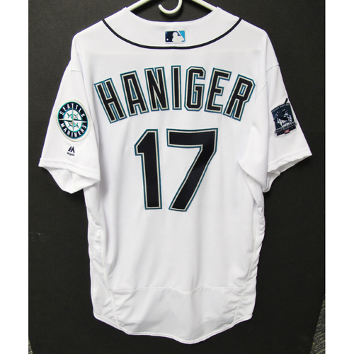 Photo of Seattle Mariners 2019 Mitch Haniger Team-Issued Jersey - Edgar Martinez Hall of Fame Celebration Weekend - August 9-11