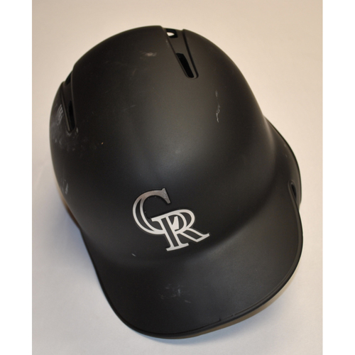 Photo of Jairo Diaz Colorado Rockies Team Issued 2019 Players' Weekend Helmet - Size 7 3/8