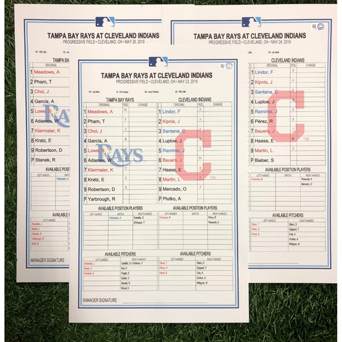 Photo of Replica LineUp Cards: May 23-24 & 26, 2019 at CLE