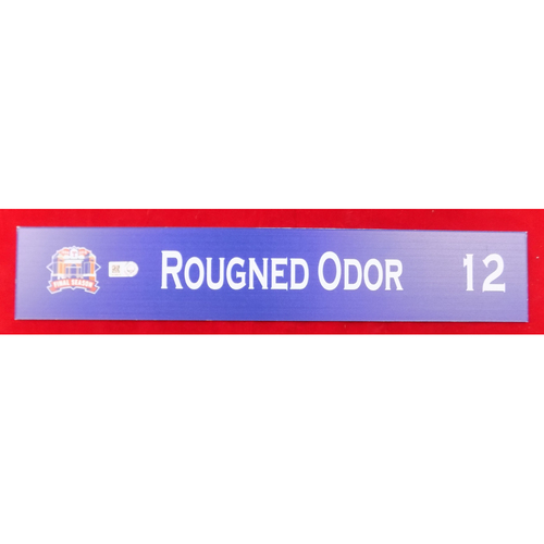 Photo of Final Season Game-Used Locker Tag - Rougned Odor - 9/13/19 vs OAK