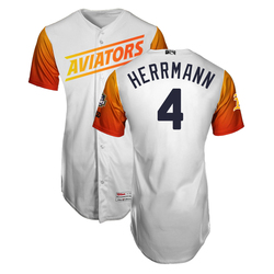 Photo of Chris Herrmann #4 Las Vegas Aviators 2019 Home Jersey