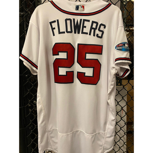 Photo of Tyler Flowers Game Used Jersey from 2018 NLDS - Worn 10/8/2018