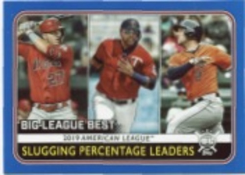 Photo of 2020 Topps Big League Blue #253 Alex Bregman/Nelson Cruz/Mike Trout LL