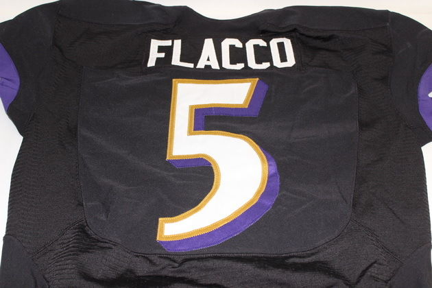 outlet store e2acd bf707 NFL Auction | RAVENS JOE FLACCO GAME WORN JERSEY (OCTOBER 2014)