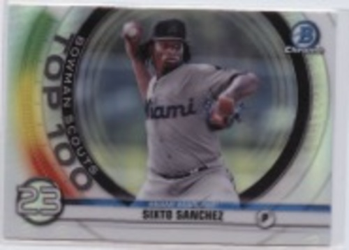 Photo of 2020 Bowman Chrome Scouts Top 100 #BTP23 Sixto Sanchez