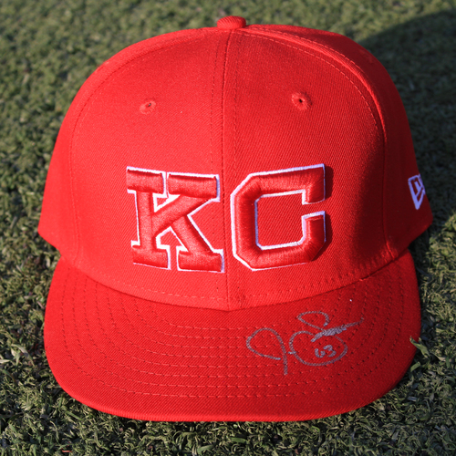 Photo of Autographed Monarchs Cap: Josh Staumont (STL @ KC 9/22/20)