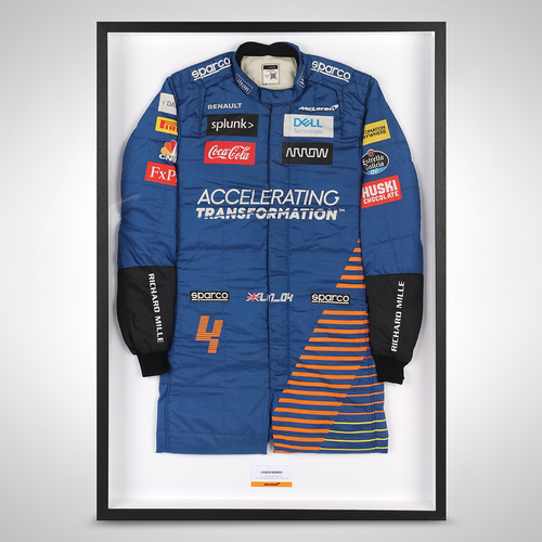 Photo of Lando Norris McLaren 2020 Race Used Suit