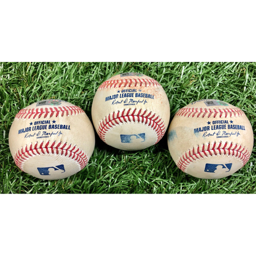 Photo of Game Used Baseball Package: Willy Adames, Austin Meadows and Joey Wendle - September 16, 2020 v WSH