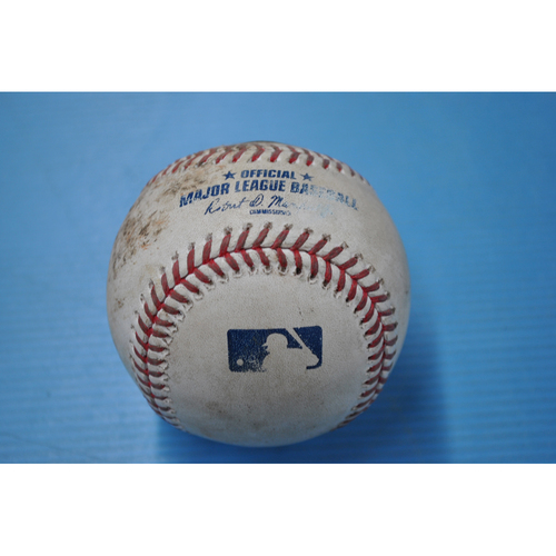 Photo of Game-Used Baseball - CLE at PIT - 8/20/2020 - Pitcher - Shane Bieber, Batter - Cole Tucker, Bot 5, Strike Out
