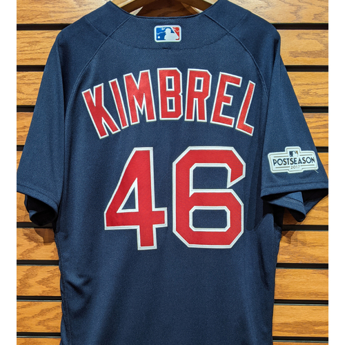 Photo of Craig Kimbrel #46 Game Used Navy Road Alternate Jersey