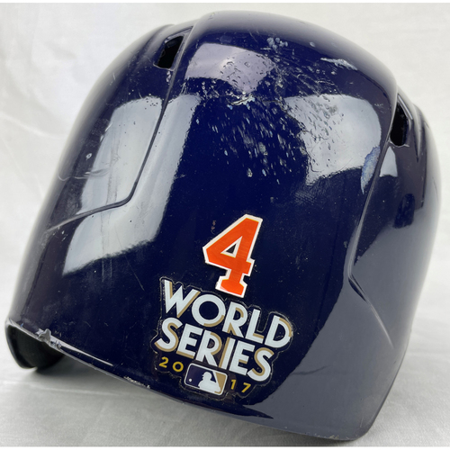 Photo of George Springer Team-Issued Helmet 2017 World Series Game 3