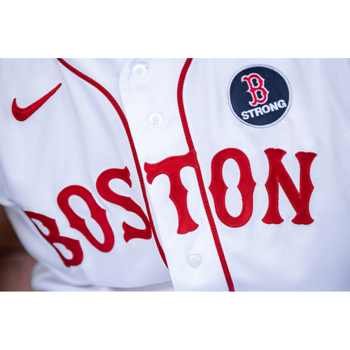Photo of Red Sox Foundation Patriots' Day - Dave Bush Authenticated Game-Used Jersey