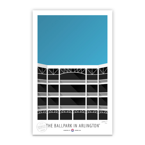 Photo of The Ballpark In Arlington - Collector's Edition Minimalist Art Print by S. Preston Limited Edition /350  - Texas Rangers