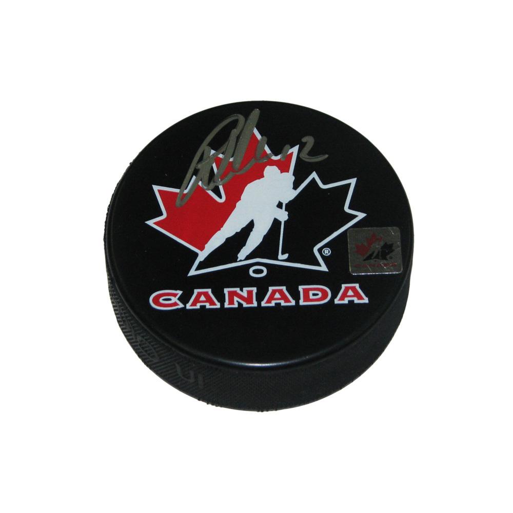 PATRICK MARLEAU Signed Team Canada Logo Puck