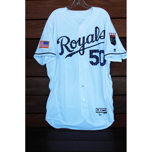 Game-Used Miguel Almonte 4th of July Home Jersey (Size 48 - MIN at KC - 7/2/17)