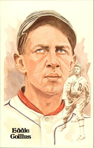 Photo of 1980-02 Perez-Steele Hall of Fame Postcards #18 Eddie Collins -- HOF Class of 1939