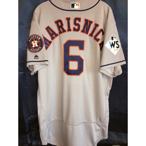 Photo of 2017 World Series Team-Issued Jake Marisnick Road Jersey