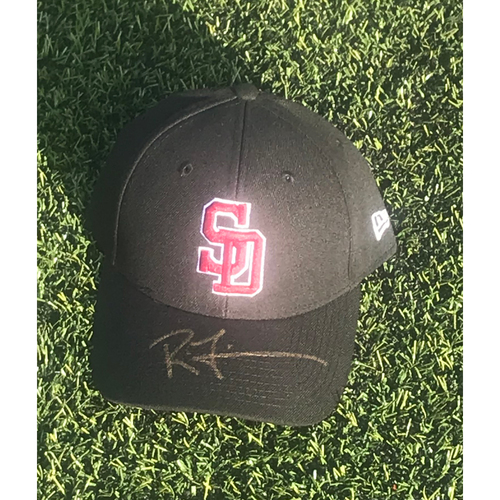 Photo of Rodney Linares Autographed and Game-Used Stoneman Douglas Eagles Cap