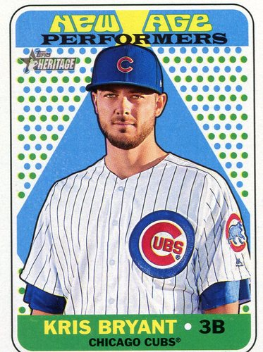 Photo of 2018 Topps Heritage New Age Performers #NAP18 Kris Bryant