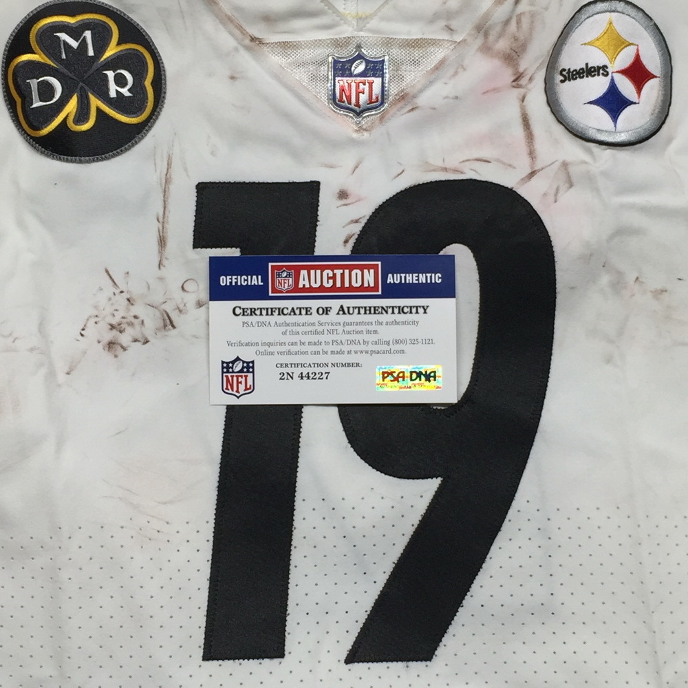 cheap for discount 37584 0ded7 NFL Auction | STS - Steelers JuJu Smith-Schuster game worn ...